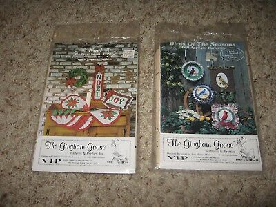 LOT OF 2 1980's HOLIDAY PATTERNS by THE GINGHAM GOOSE~NOEL&PUFF BIRDS~FF UNUSED