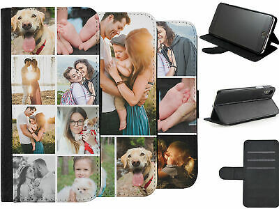 New Personalised Custom Photo Phone Cover Case Your Photo Print Leather Flip