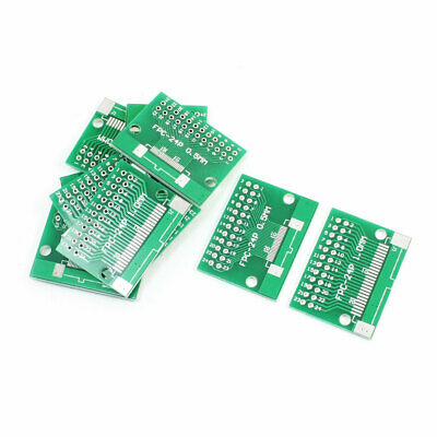 10Pcs FPC-24P 0.5mm 1mm to DIP24 2.54mm Pitch 2 Sides PCB Board Plate Adapter