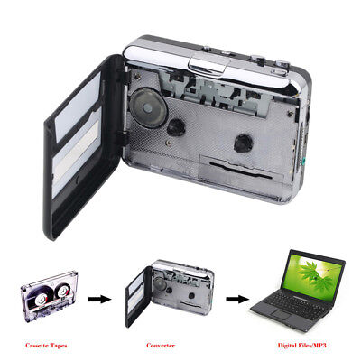 Portable Tape to Cassette Capture Cassette-To-MP3 Music Player Converter w Cable