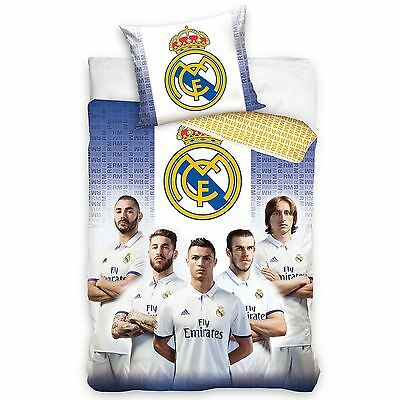 Real Madrid Cf All Stars Single Cotton Duvet Cover Set - Ronaldo, Modric New