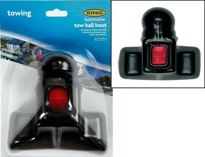 Ring 50mm Tow Ball Cover With Reflector Tow Ball,Trailer, Caravan  RCT751
