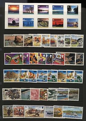 Guernsey Collection Modern Stamps Mounted Mint + Unmounted Mint