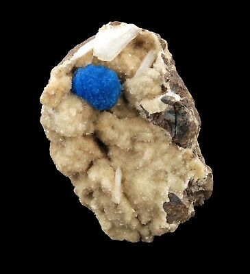 Cavansite Blue Crystal On Heulandite # 1870