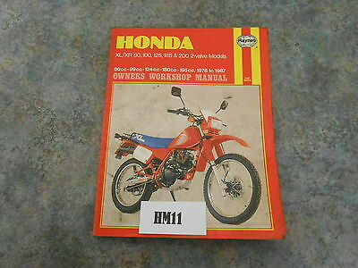 Honda Xl Xr 50 80 125 185 200 Haynes Manual      (Hm11)