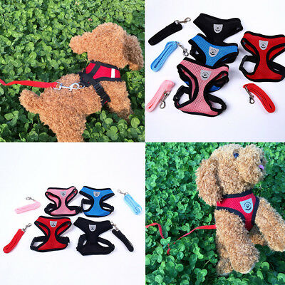 New Air Mesh Puppy Pet Dog Car Harness and Seatbelt Clip Lead Safety for Dogs