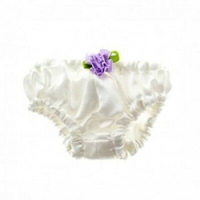 "Teddy Bear White satin knickers will fit 10"" build a plush furry friend"