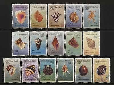Christmas Island 1992 Shells Set Unmounted Mint