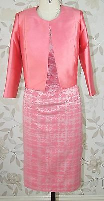 BNWT L'Atelier Mother of Bride Groom Wedding Jacquard Dress & Jacket Size 16