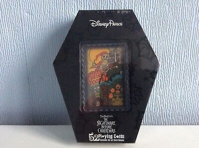 Nightmare Before Christmas Playing Cards in a coffin shaped box