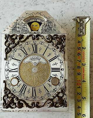 Warmink Clock Dial Dutch Vintage Mantel Bracket Clock Moonphase