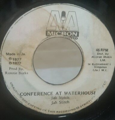 "7"" Single: Jah Stitch - Conference At Waterhouse (Micron), KILLER DUB!"