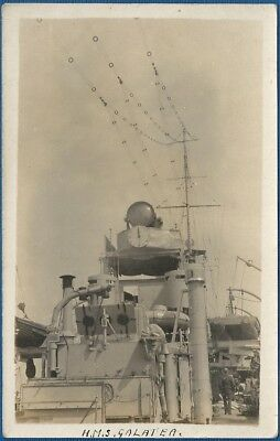 RP Postcard - Arethusa Class Cruiser - HMS Galatea - View on Board