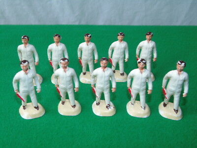 Vintage Barrett & Sons Plastic Garage Figures X10