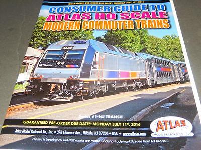 Atlas - Consumer Guide To Atlas Ho Scale Commuter Trains - New - L48