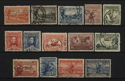 Australia Collection Early Commemorative Stamps (Inc Sets) Used