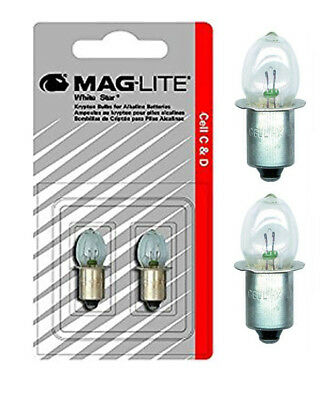 Genuine Maglite Replacement Bulbs for Maglite 5C and 5D Cell Torches