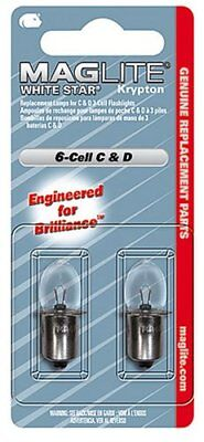 Genuine Maglite Replacement Bulbs for Maglite 6C and 6D Cell Torches