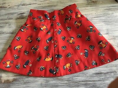 Vintage 1970's Buster Brown Skirt Childs Girls Sz 3