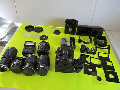 Pentax 645 Medium Format Camera And Accessories