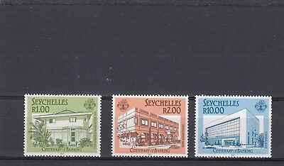 a131 - SEYCHELLES - SG671-673 MNH 1987 CENTENARY OF BANKING IN SEYCHELLES