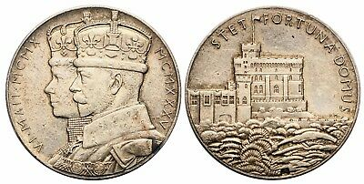 UK (Great Britain) King George V SILVER CORONATION MEDAL (15.8g)