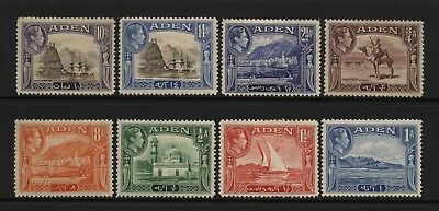 Aden 1939 KGVI Multi Coloured Values (Inc 10Rs Brown / Violet) Mounted Mint