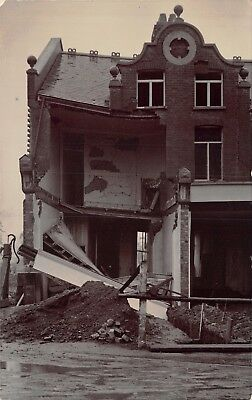 Surrey Long Ditton Shop Collapsed Before Building Completion 1908 Photo Card