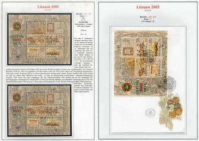 LITHUANIA 2005 MNH/USED-CTO/FDC SG862 Lithuania Millenary
