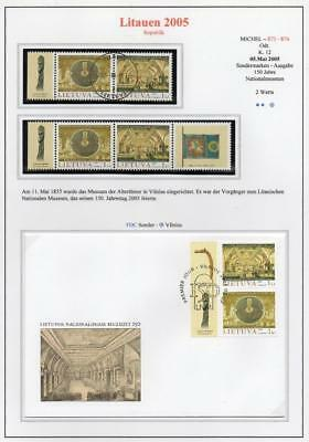LITHUANIA 2005 MNH/USED-CTO/FDC SG859-60 150th Anniv of National Museum