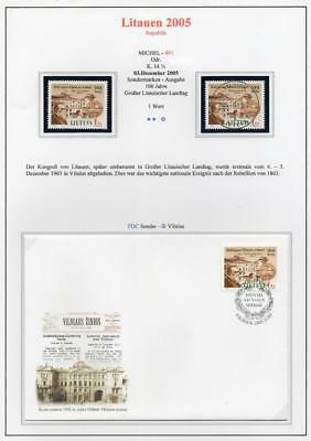 LITHUANIA 2005 MNH/USED-CTO/FDC SG872 Congress of Lithuanians