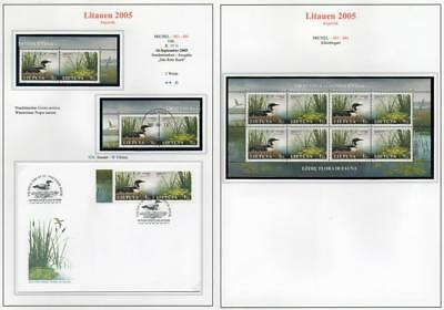 LITHUANIA 2005 MNH/USED-CTO/FDC /MINISHEET SG866-67 Endangered Species