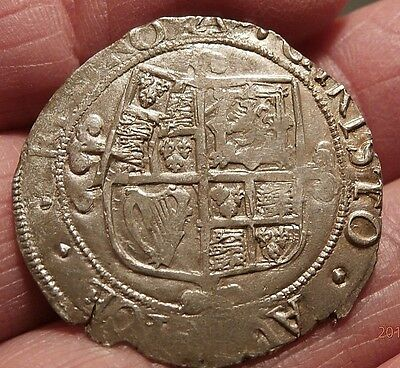 1639-40 Charles I Silver Shilling Triangle Mint Mark Double Struck  C521