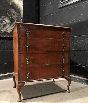 Can Deliver Vintage Retro Antique Queen Ann Leg Mahogany Chest Of Drawers