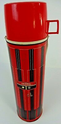 KING SEELY MADE IN U.S.A. Vintage Plaid THERMOS w/ Glass Liner