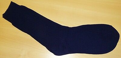 VINTAGE 1980's UNWORN MEN'S NAVY BLUE RIBBED STRETCH NYLON SOCKS SIZE 6-11