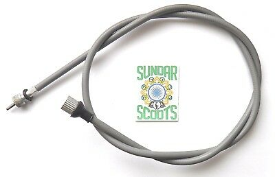 Speedo Cable Grey.indian Threaded Suitable  For Lambretta Scooters .