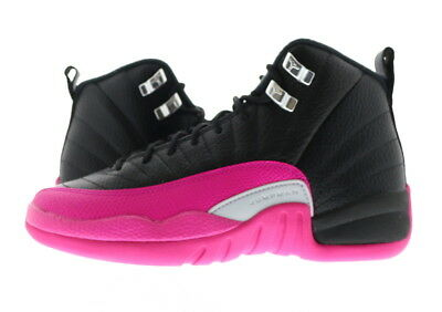 buy online b3159 2f21f YOUTH (GS) AIR Jordan 12 Retro Black/Deadly Pink 510815-026