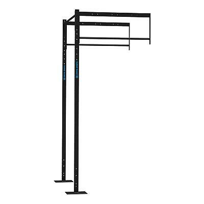 Station extension rack musculation pull up 2 positions + 2 exercice squat - noir
