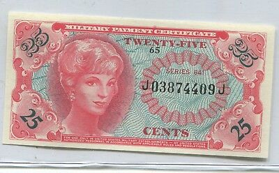 Military Payment Currency Series #641 .25 Cent Note