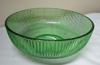 Green Ribbed Candy Salad Dish Bowl Vintage E.O. Brody Co Cleveland Ohio USA