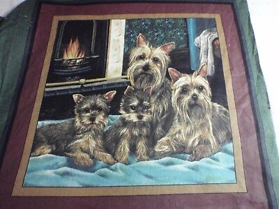 Yorkie Yorkshire Terrier   Dog 2 Handmade Fabric Throw Pillows Approx 14X14