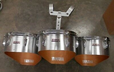 """Yamaha Marching Tri Toms w/ Carrier 14-13-12""""  !NORESERVE!"""