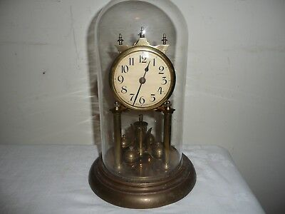 JUF Standard Early, Anniversary Clock in Glass Dome, For Restoration.