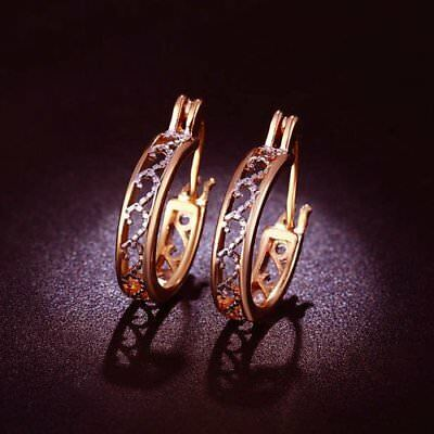 Vintage Hoop Rose Gold Plated Earrings - Ginger Lyne Collection