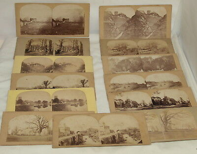 13 Stereo Viewer Cards : Peveril Castle & Other Derbyshire Views