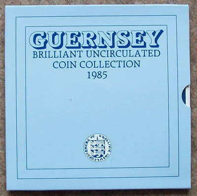 GUERNSEY 1985 bunc Year Set in gatefold folder as issued by RM