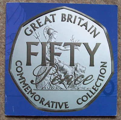 50p (Fifty Pence) Commemorative Collection issued by RM, incl scarce 1992/93 EU