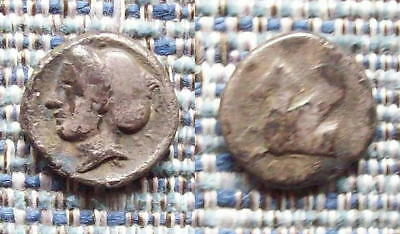 Greek Coin: CORINTH, diobol, 350-306BC