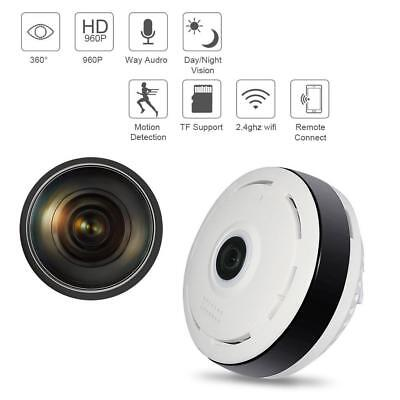 Home Panoramic Wifi IP Camera APP Fisheye Full 360° 960P Smart Phone view